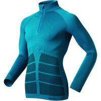 Odlo  Angebote –  Odlo L/S Zip Shirt EvoWarm methyl blue  gerade als Outdoor – Schnäppchen für Sparer