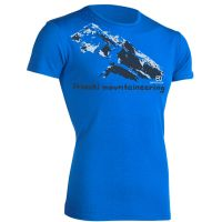 Ortovox  Angebote –  Ortovox 185 Print S/S Shirt blue ocean  gerade als Outdoor – Schnäppchen für Sparer