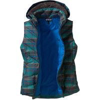 Patagonia  Angebote –  Patagonia Down With It W's Vest plaid forge grey  gerade als Outdoor – Schnäppchen für Sparer