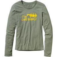 Patagonia  Angebote –  Patagonia Live Simply W's Spare L/S Shirt dark celadon  gerade als Outdoor – Schnäppchen für Sparer