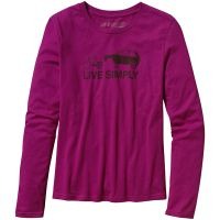 Patagonia  Angebote –  Patagonia Live Simply W's Spare L/S Shirt magenta  gerade als Outdoor – Schnäppchen für Sparer