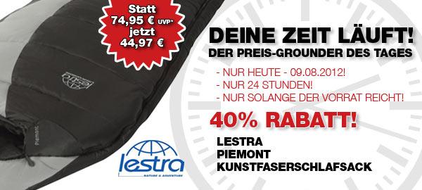 Lestra Piemont – Nur heute  40% auf den Lestra Kunstfaserschlafsack