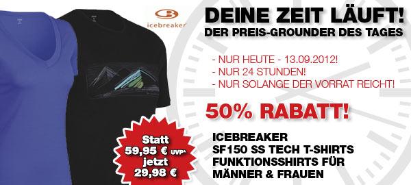 EILMELDUNG – Icebreaker SF150 – Funktionsshirts (m/w) – Nur heute 50% Rabatt bei den Bergfreunden
