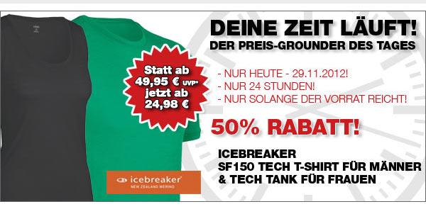 Icebreaker SF150 Tech T Lite und Tech Tank – Die Funktionsshirts für Männer & Frauen nur heute 50% günstiger