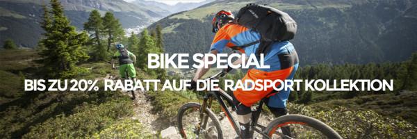 % BIKE SPECIAL – 20% Gutschein für Radsport-Artikel – % EXTRA-SALE: Nur noch bis Ende Mai 15% Extra-Rabatt!