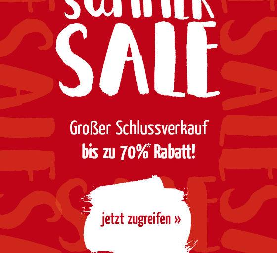 Sommerschlussverkauf – spart jetzt bis zu 70%*!