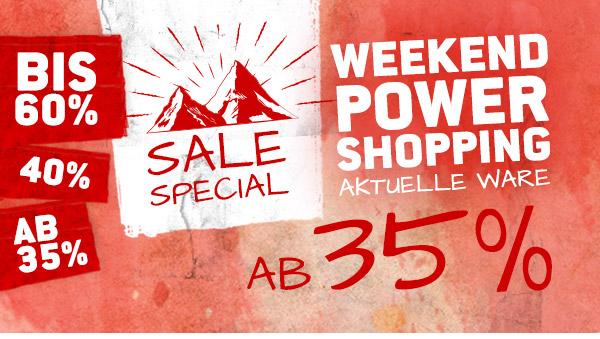 SSV-Special! 35 bis 60% auf aktuelle Ware im Sale!
